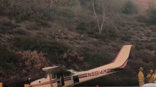 Small Plane Crash on the 210 Freeway