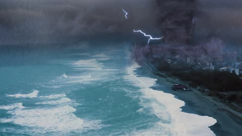 Monstrous Tornado Beach 4K