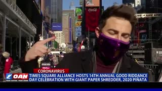 Times Square Alliance hosts 14th annual 'Good Riddance Day' celebration