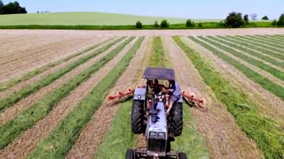 Drone footage shows beautiful views of farmers hard at work 2021