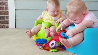 Cute Twins Playing Together..Funny Video