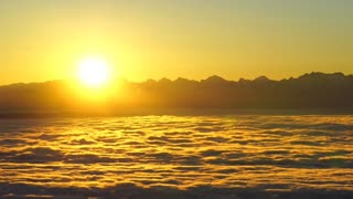accompanies this beautiful sunrise.