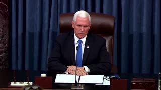 Pence to Capitol protesters: 'You did not win'