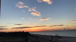 Sunrise near the beach