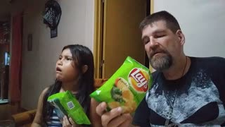 My Duaghter Lucy and I review some Potato Chips