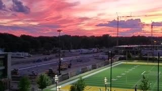 Lambeau Field Park amazing sunset