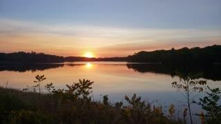 The most beautiful lake sunset