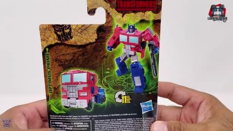 Transformers Kingdom Core Optimus Prime Review WFC-K1 (Retail Release), Larkin's Lair