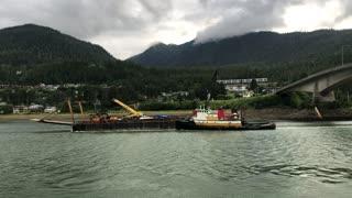 Crane Hits Bridge in Alaska