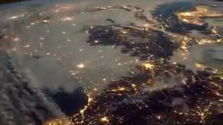 Earth at night viewed from space