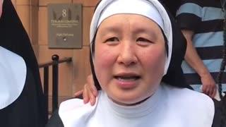 Nun warns anti-lockdown protestors about dangers of coronavirus vaccine
