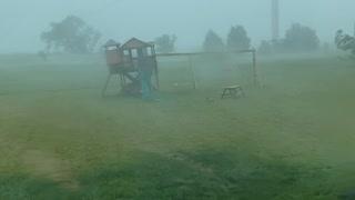 Massive Wind Storm Carries Away Kid's Club House