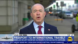 DHS Secretary Considering International Vaccine Passports