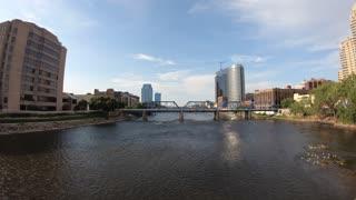 Blue Bridge on the river