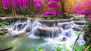 Relaxing Music Nature Sounds Beautiful Waterfall Fall Asleep Relax