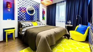 Best Design interior YellowColor With White - Green- Blue - Gray And Other Colors.