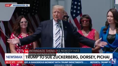 BREAKING: People's President Trump Suing Major Big Tech Censorship - HE'S BACK!!