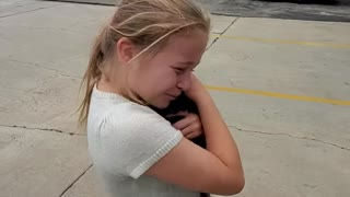 Epic puppy surprise sends little girl into tearful bliss