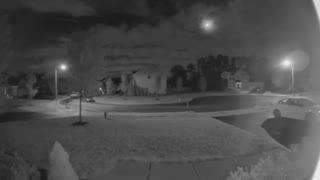 Security Camera Catches Low Flying Meteor On Video At Night