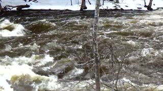 River is flowing