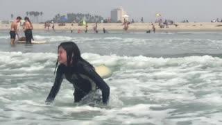 Surfing at Dog Beach San Diego