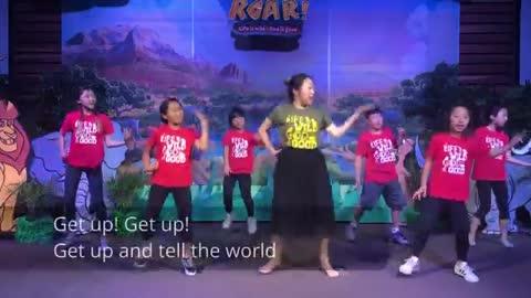 Kids dance song (get up)