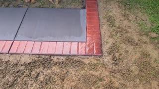 Stamped concrete bricks