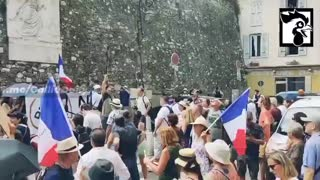 Paris, France: Massive Protests Against Vaccine Passports 7-30-21