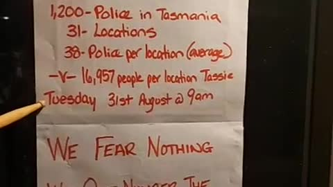 Tasmania we fear nothing these are your numbers 29052021