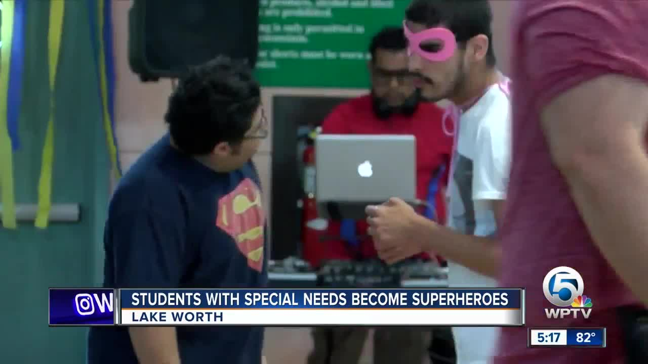 Palm Beach County students with special needs become superheroes