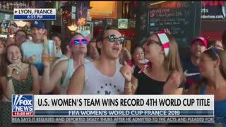 Crowd Chants 'F**k Trump!' During Fox News Live Shot of World Cup