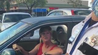 Livid Woman Yells in Walmart Parking Lot