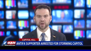 Antifa supporter arrested for storming Capitol