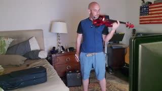 Thunderstruck on electric violin