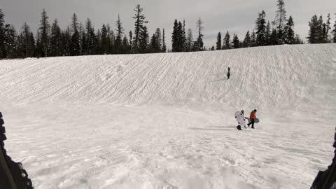Sledding at Andies Prairie