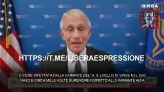 Anthony Fauci: I vaccinati contagiano e devono rispettare le regole...