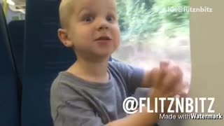 Little boy on metro train tries to say london bridge but instead says london bitch