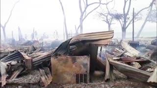 Incendio en Playa Blanca, Barú