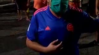 Protestas en el barrio Norte Bajo de Bucaramanga