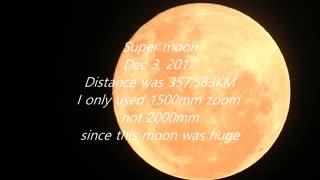 Super moon in Santiago, Chile