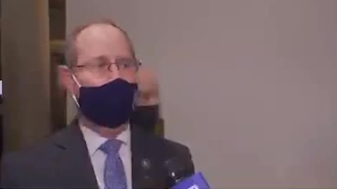 Rep. Greg Murphy Removes Mask Immediately After Interview