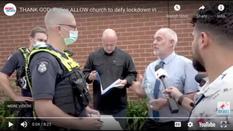 Pastor Open His Church During Melbourne Lockdown