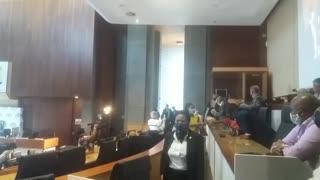 Former President Jacob Zuma arrives before the Zondo Commission