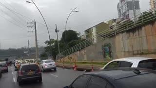 Congestión vial en Autopista de Bucaramanga