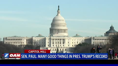 Sen. Paul: Many good things in President Trump's record