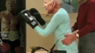 JOE BIDEN TRAINS TO FIGHT PRESIDENT TRUMP