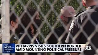 Vice President Kamala Harris tours facilities along southern border
