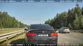 Intense Police Pursuit In Latvia Ends Crashing Into A Ditch