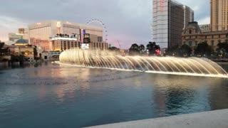 Bellagio fountain at night