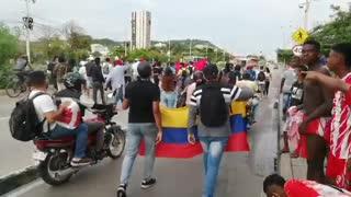 Marcha de jóvenes por Chambacú